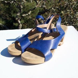 Dansko Tasha Royal Blue Sandals 41 10 10.5 11